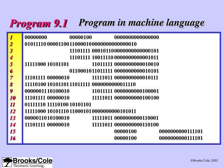 Program 9.1