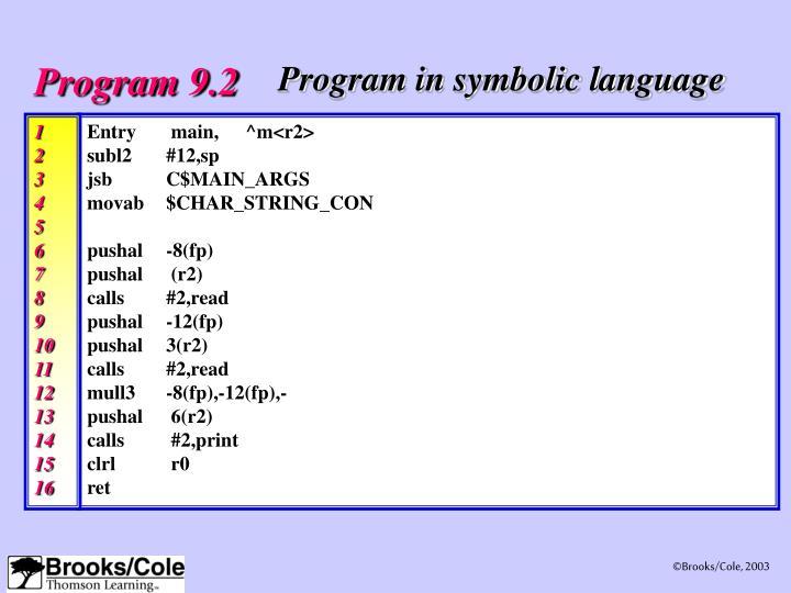 Program 9.2