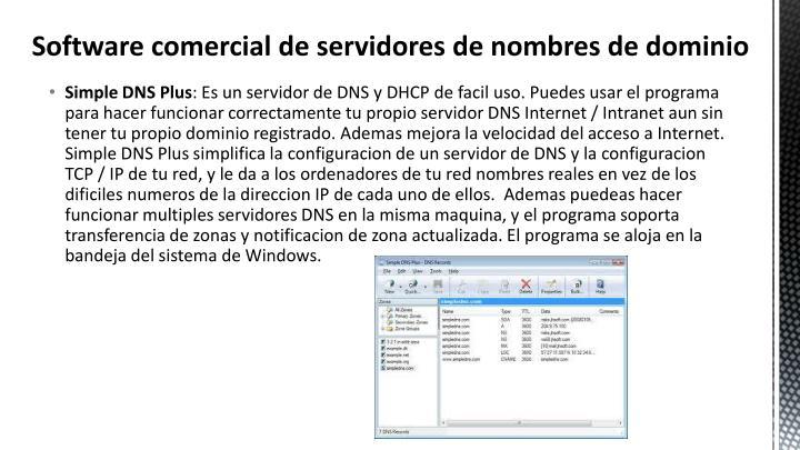 Software comercial de servidores