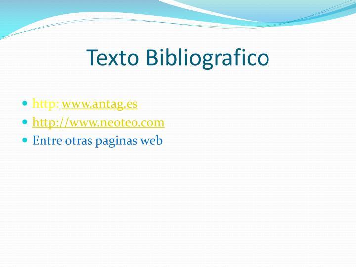 Texto Bibliografico