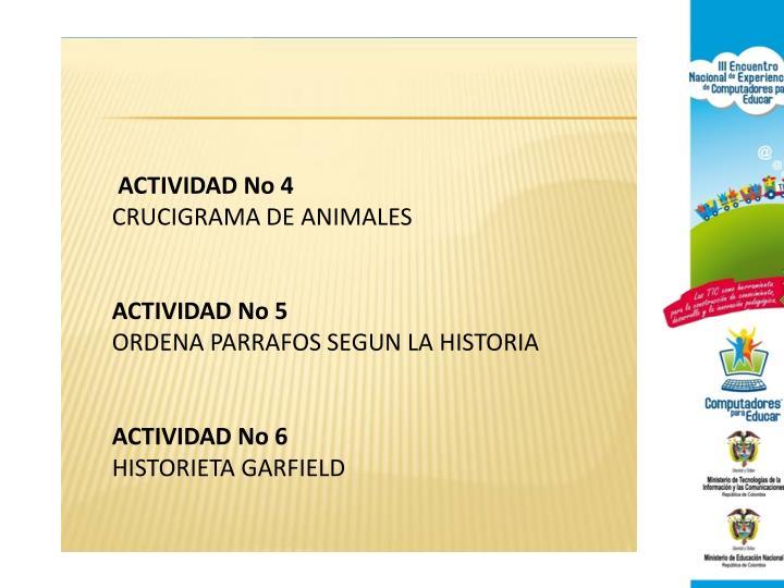 ACTIVIDAD No 4