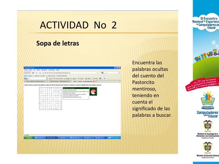 ACTIVIDAD  No  2