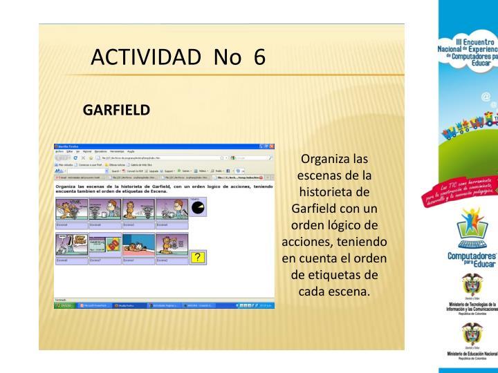 ACTIVIDAD  No  6