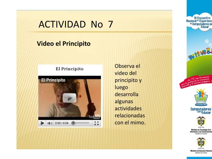 ACTIVIDAD  No  7