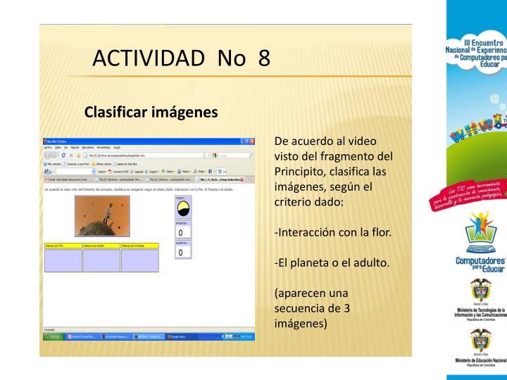 ACTIVIDAD  No  8