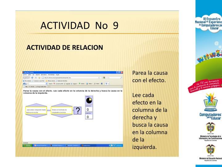 ACTIVIDAD  No  9