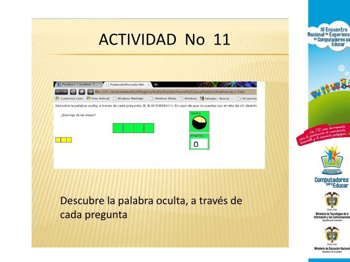 ACTIVIDAD  No  11