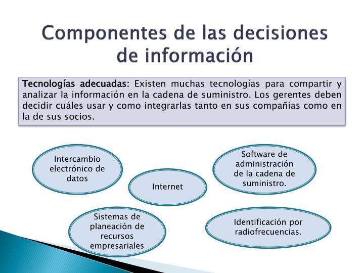 Componentes de las decisiones de información