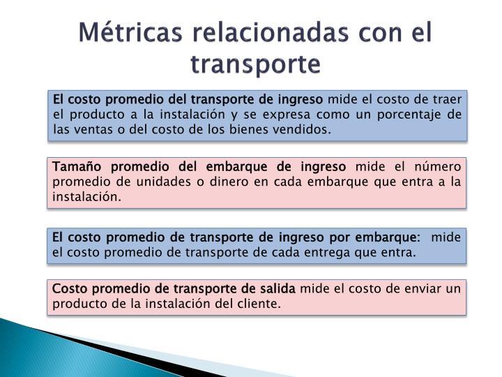 Métricas relacionadas con el transporte