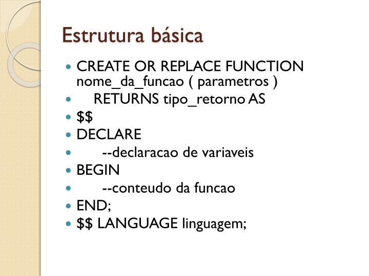 Estrutura básica