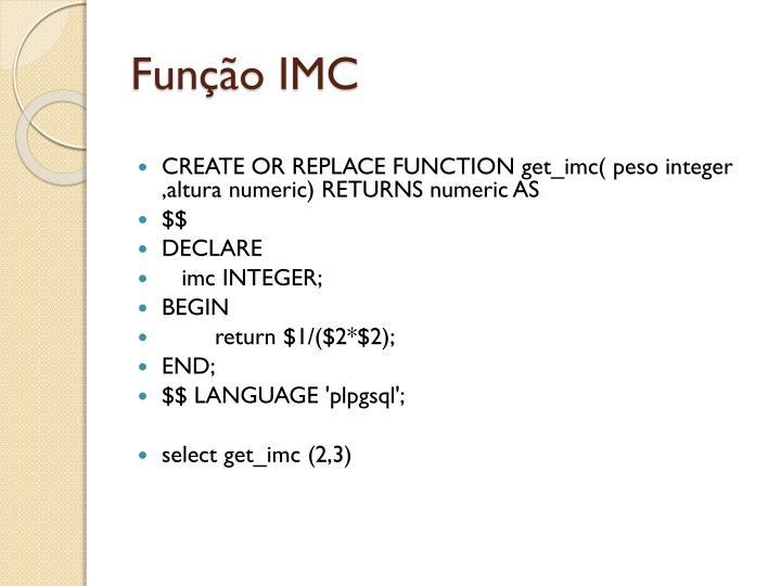 Função IMC