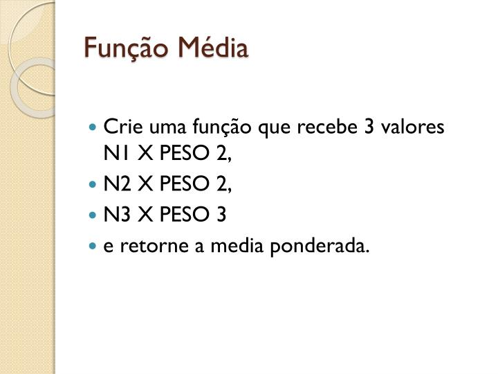 Função Média