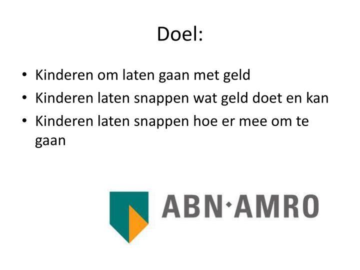 Doel: