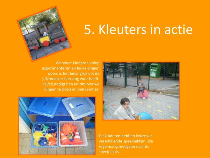 5. Kleuters in actie