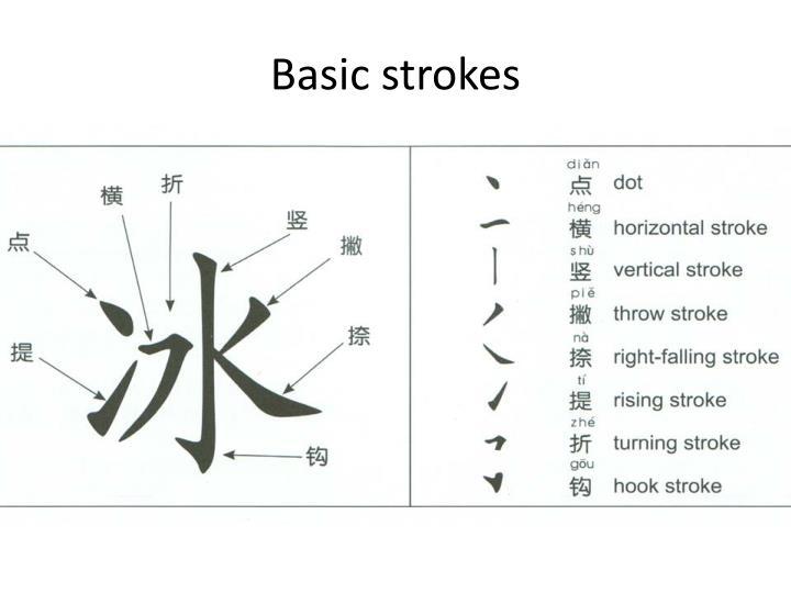 Basic strokes