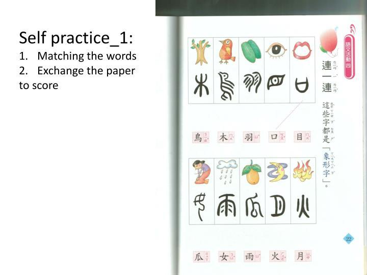 Self practice_1: