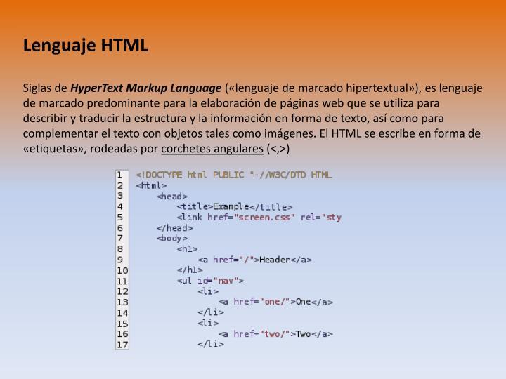 Lenguaje HTML