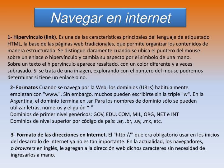 Navegar en internet