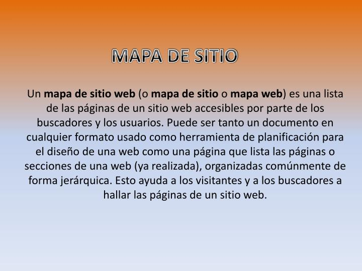 MAPA DE SITIO