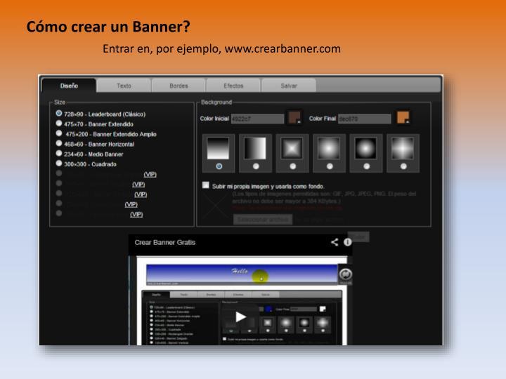Cómo crear un Banner?