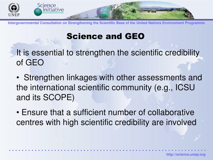 Science and GEO