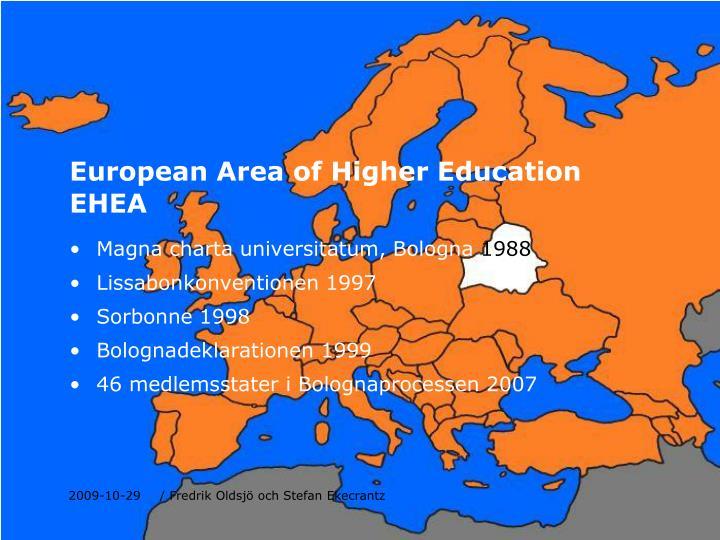 European Area of Higher Education EHEA