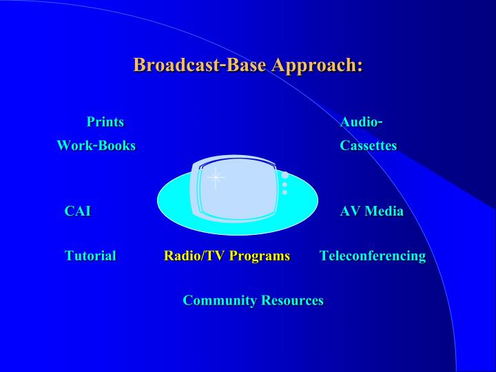 Broadcast-Base Approach: