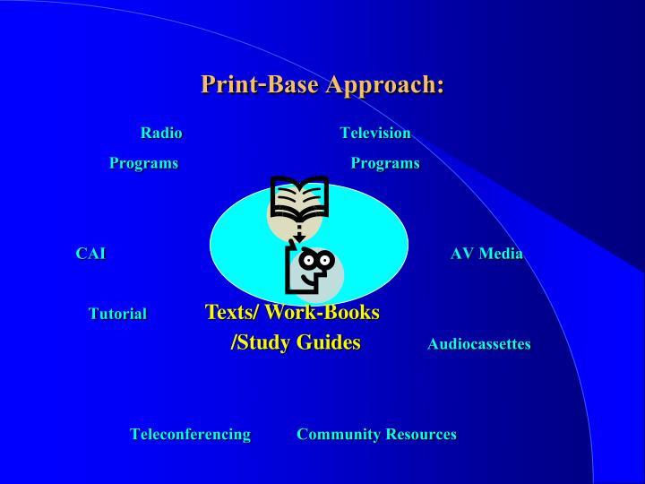 Print-Base Approach: