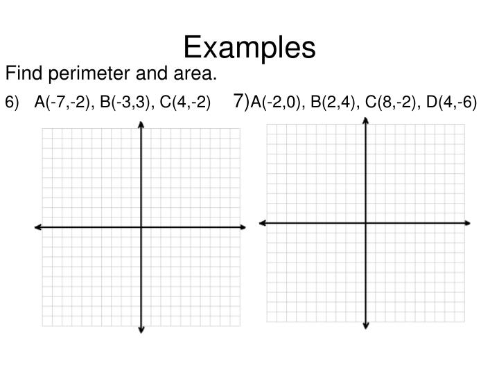 Find perimeter and area.