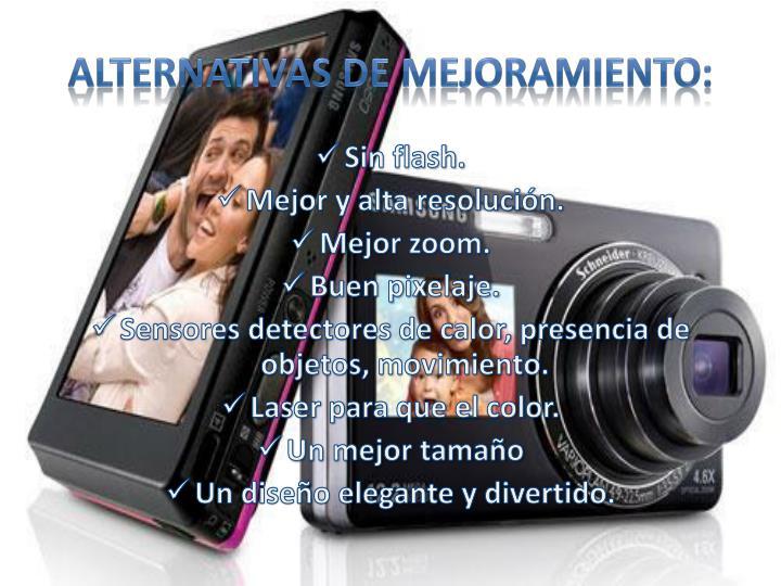 ALTERNATIVAS DE MEJORAMIENTO: