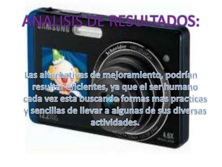 ANALISIS DE RESULTADOS: