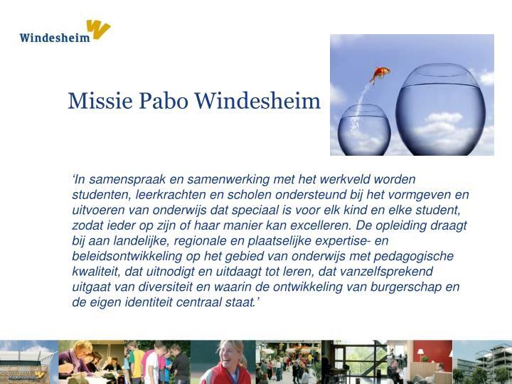 Missie Pabo Windesheim