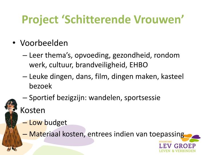 Project 'Schitterende Vrouwen'