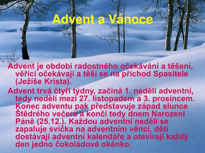 Advent a Vánoce