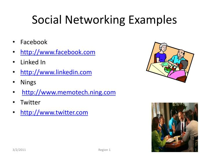 Social Networking Examples