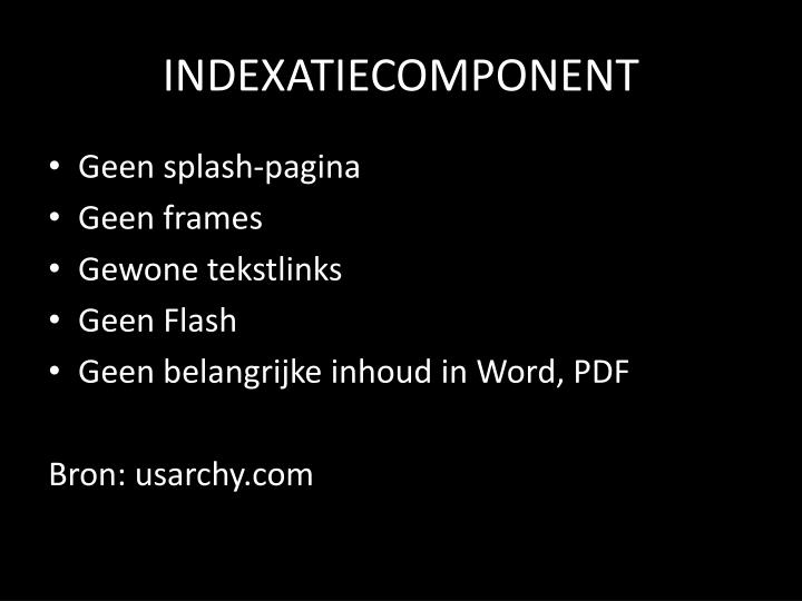 INDEXATIECOMPONENT