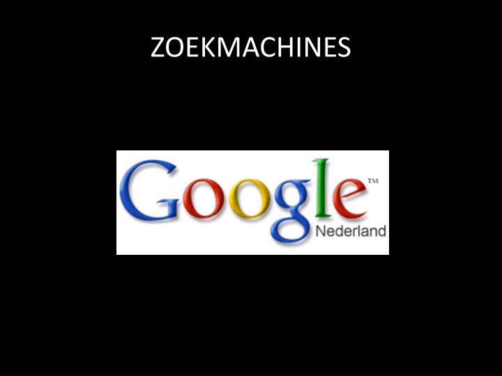 ZOEKMACHINES