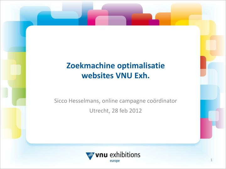 Zoekmachine optimalisatie websites vnu exh
