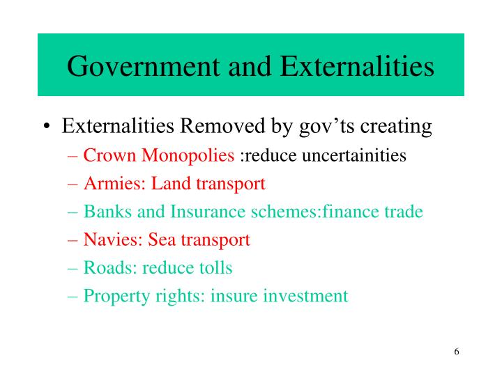 Government and Externalities