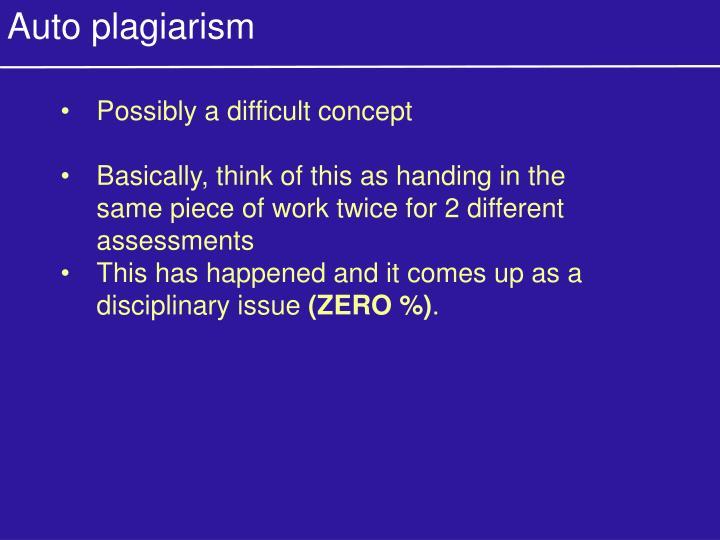 Auto plagiarism