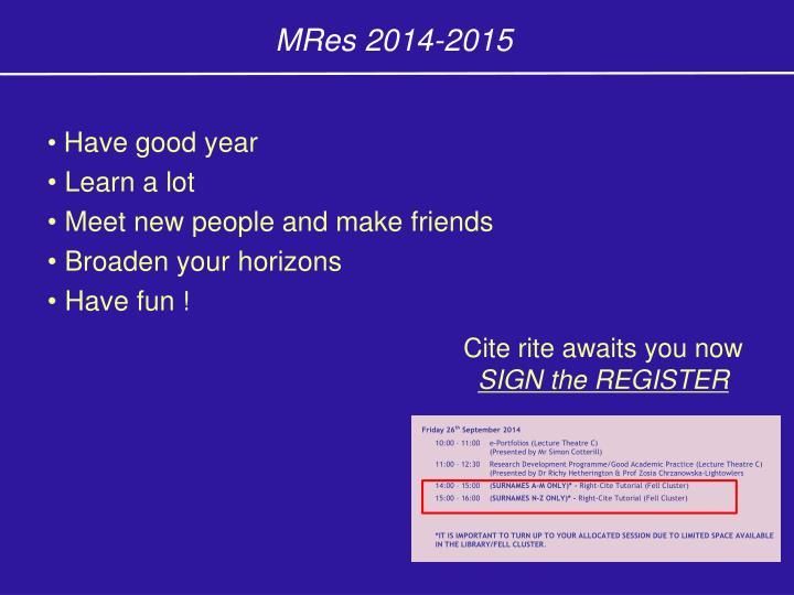 MRes 2014-2015
