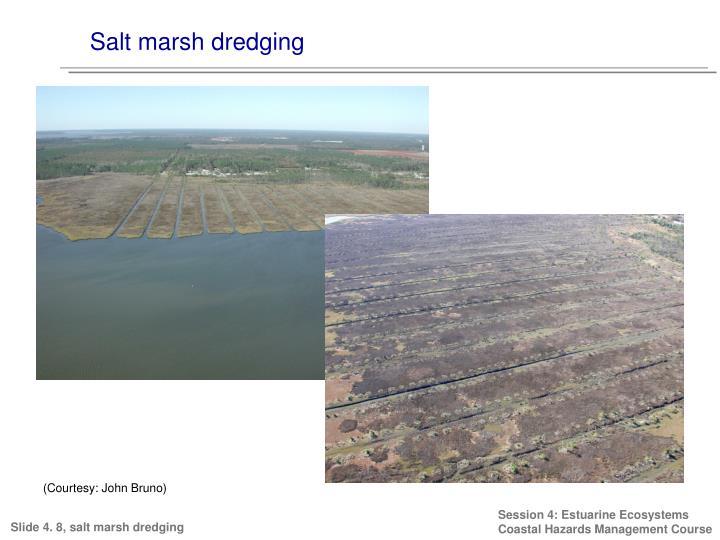 Salt marsh dredging