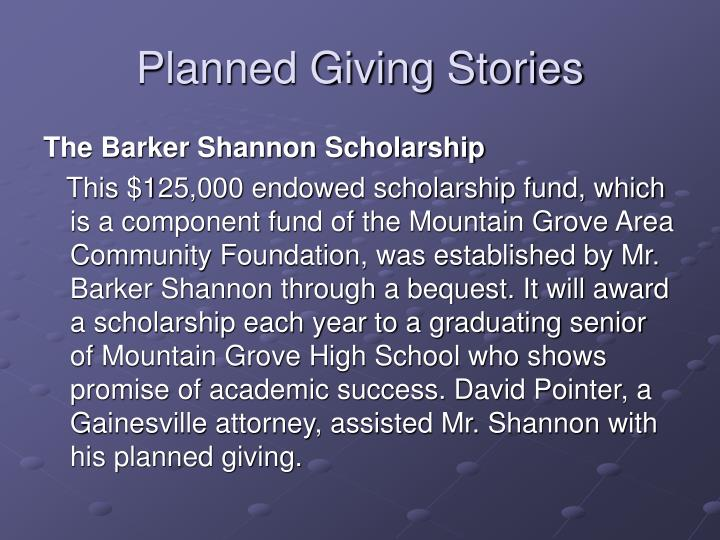 Planned Giving Stories