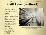 child labor continued