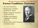factory conditions taylorism