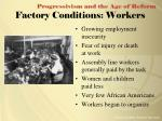 factory conditions workers