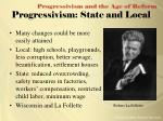 progressivism state and local