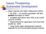 issues threatening sustainable development