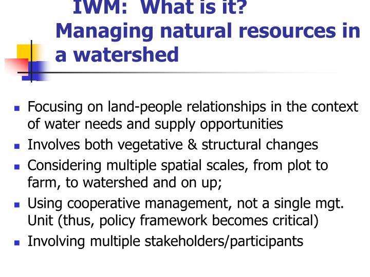 IWM:  What is it?