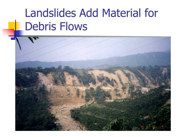 Landslides Add Material for Debris Flows